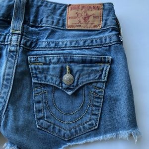 True Religion Jean Shorts - Size 25